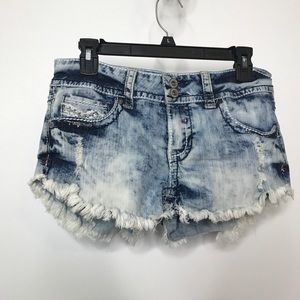 Hydraulic Cutoff Booty Shorts Size 9/10 Acid Wash